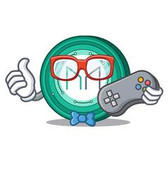 Gamer maker coin mascot cartoon vector