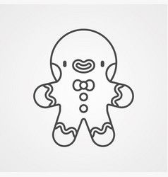 gingerbread icon sign symbol vector image