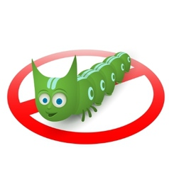 Green caterpillar pest runner vector image