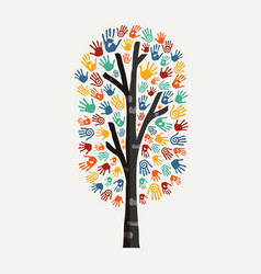 hand tree concept for charity help vector image