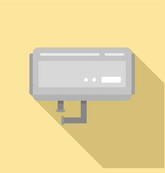 Heater boiler icon flat style vector