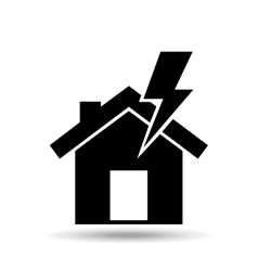 house and lightning bolt icon vector image