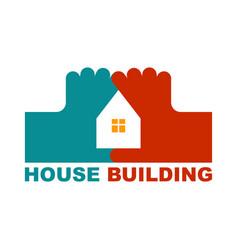 House fingers logo housebuilding symbol vector