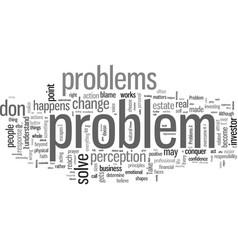 How you see problem is the problem vector
