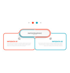 info graphic thin line design with 2 options vector image