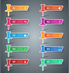 Infographic design list of 10 items vector