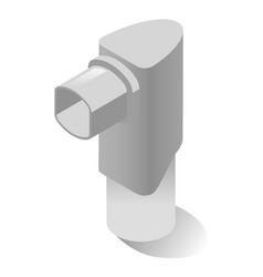 Inhaler puffer pump or allergy asthma spray vector