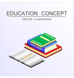Isometric education and graduation concept 3d back vector image