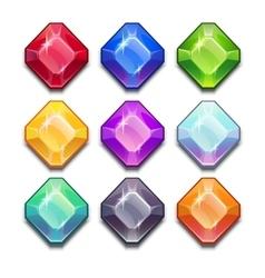 Jewels set vector