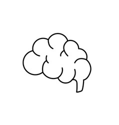 Line side brain human anatomy organ of inteligence vector