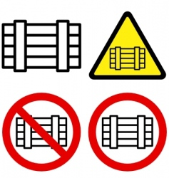 luggage signs vector image