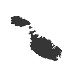 Malta map silhouette vector