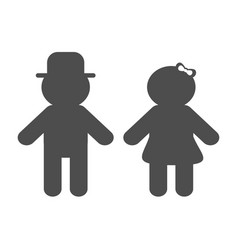 man and woman silhouette icon black shape vector image