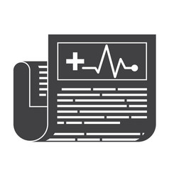 medical journal icon vector image