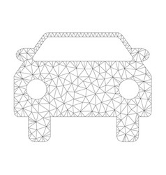 mesh car icon vector image