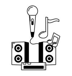 microphone speakers console music vector image