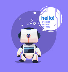 Modern robot says hello futuristic artificial vector