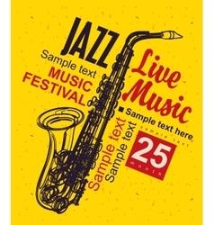 Music poster jazz festival vector