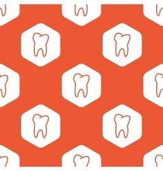 Orange hexagon tooth pattern vector