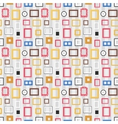 Photo frame seamless pattern vector