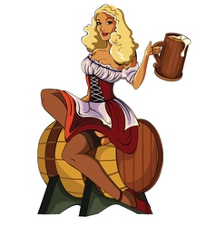 Pin-Up-Beer vector image
