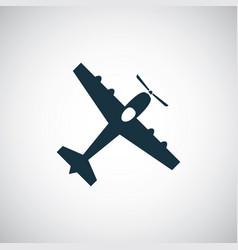 plane icon simple flat element concept design vector image