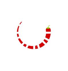 red chili icon design graphic template vector image
