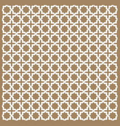 seamless islamic patterns in beige traditional vector image