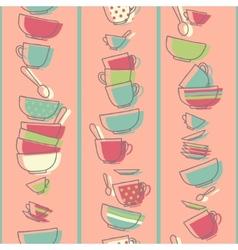 Seamless pattern with kitchen utensils vector