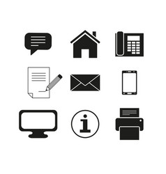 set of contacts message icons vector image