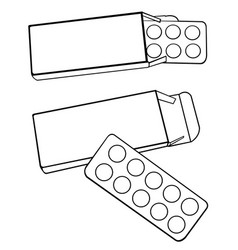 Set of pills vector