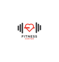 simple fitness logo design template vector image