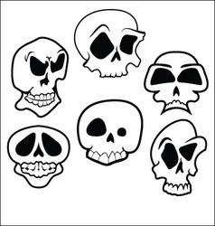 Skulls 6 vector