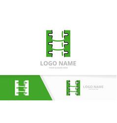 spinal diagnostic center logo design template vector image