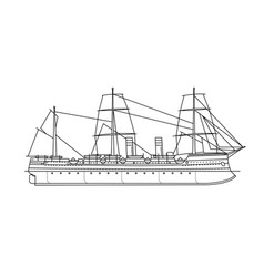 Steamboat steamship vector