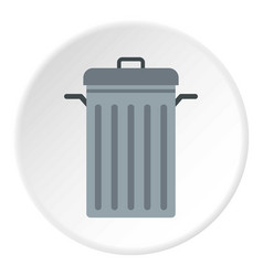 steel bin icon circle vector image