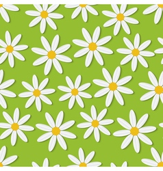 Summer daisies seamless background vector
