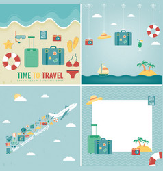 Summer holidays backgrounds collection holidays vector