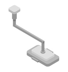 Surgery lamp icon isometric style vector