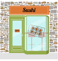 sushi cafe fast food bar vector image vector image