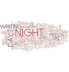 The nightshift text background word cloud concept vector