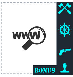 Website search icon flat vector