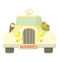 Wedding car icon cartoon style vector image