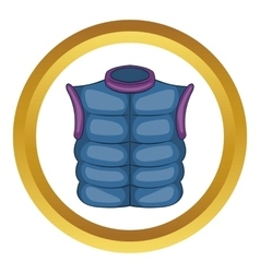 Winter quilted waistcoat icon vector