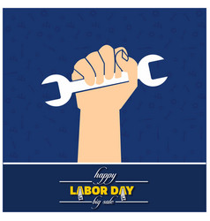 Worker hand with wrench symbol vector