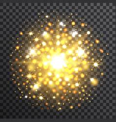 yellow sunburst on transparent background vector image