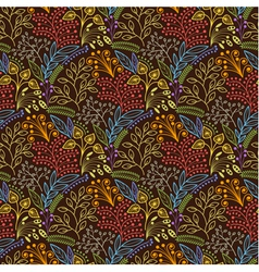 Brown floral scales seamless pattern vector image vector image