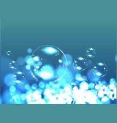Bubble soap background vector image