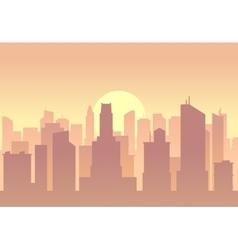 city flat skyline vector image