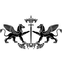 Griffin sword vector image vector image